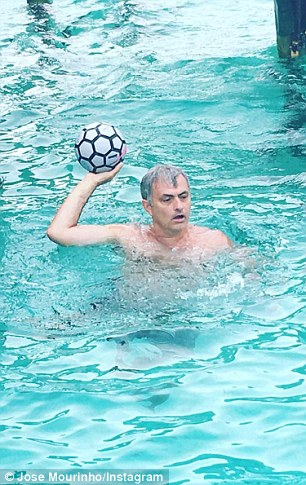 Mourinho being shy on Instagram